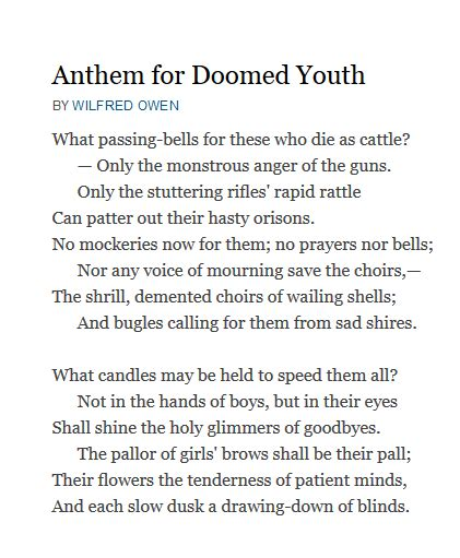 anthem for doomed youth b00r73o8z6 analysis of poem quot anthem for doomed youth quot by wilfred owen owlcation
