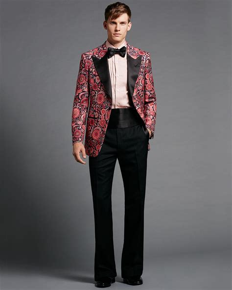 Rsby 494 Hodie Jacket Pink Print lyst tom ford floral print hopsack tuxedo jacket in pink