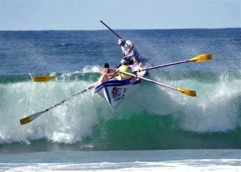 row boat gold coast surf life saving australia water sport wave boat beach