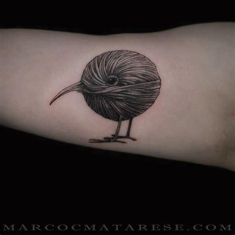 kiwi tattoos designs kiwi in wool marco c matarese etching linework