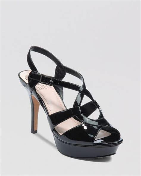vince camuto padrita high heel platform sandals in black