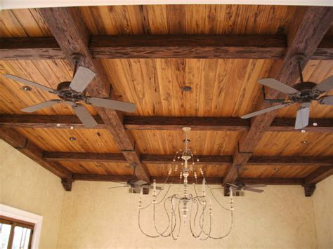 faux wood beam ceiling designs rustic family room