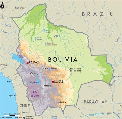 map of bolivia road map of bolivia and bolivia road maps