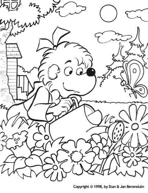 berenstain bear coloring pages berenstain bears coloring pages coloringpagesabc com