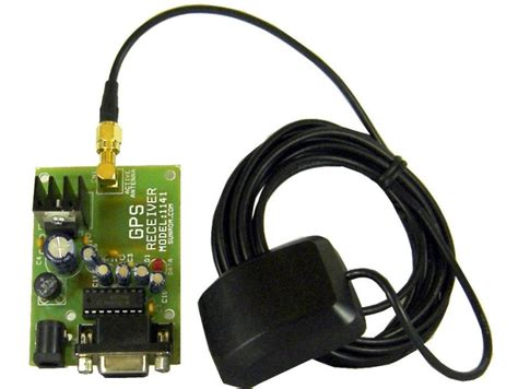 gps receiver with active antenna rs232 1141 sunrom electronics technologies