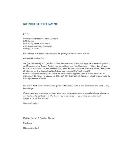 statement letter notarized letter templates 27 free