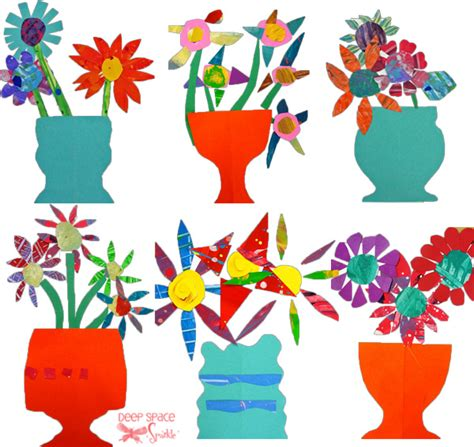 Paper Cutting And Pasting Crafts - paper cut flower project space sparkle
