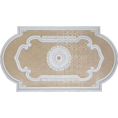 Rectangular Ceiling Medallions by Antique White Blanco Rectangular Ceiling Medallion