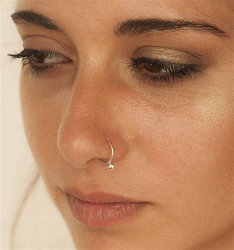 unique nose ring gold nose ring silver nose hoop nose
