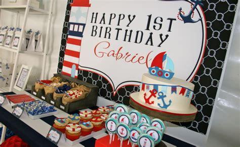 nautical  birthday party theme