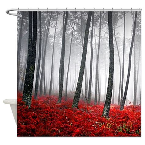 shower curtain forest winter forest shower curtain by bestshowercurtains