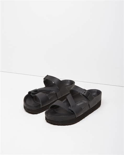 Sandal Belt y s yohji yamamoto birkenstock belt sandal in black lyst