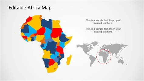 africa powerpoint template africa map template for powerpoint slidemodel