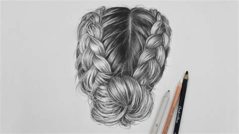 Drawing Hair by Realistic Hair Sketch Step By Step Www Pixshark