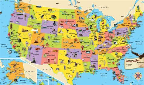 usa map at tourist map of usa einfon