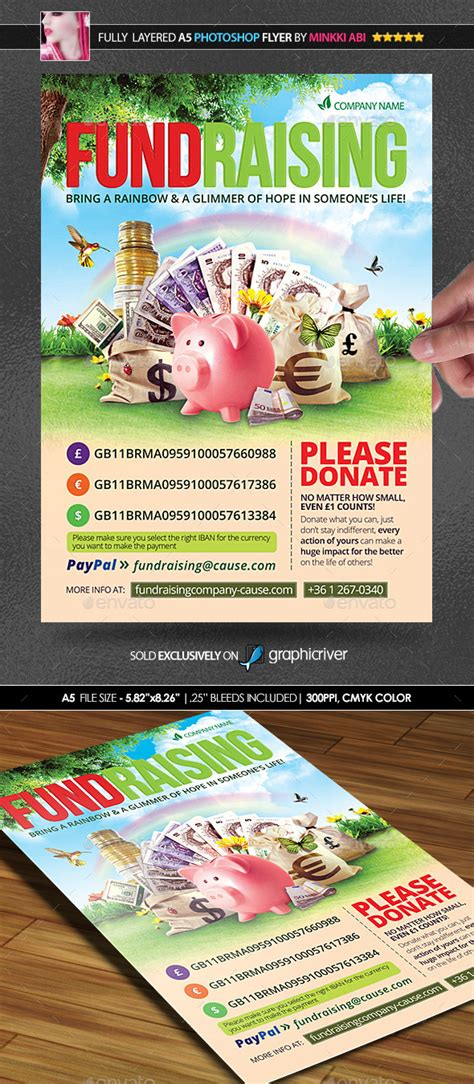 Fundraising Poster Flyer Graphicriver Fundraiser Flyer Templates Photoshop
