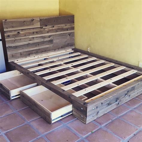 Rustic Platform Bed With Drawers by 83 Best Images About Bedroom Platform On Diy