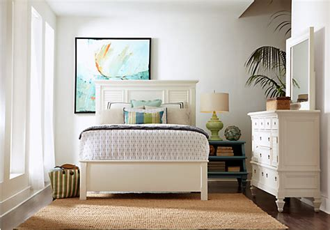 belmar white  pc queen bedroom panel traditional