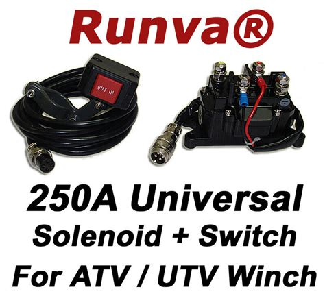 sale  runva  universal electric winch solenoid