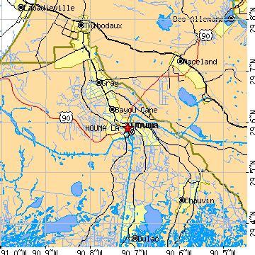 zip code map houma la houma louisiana la population data races housing