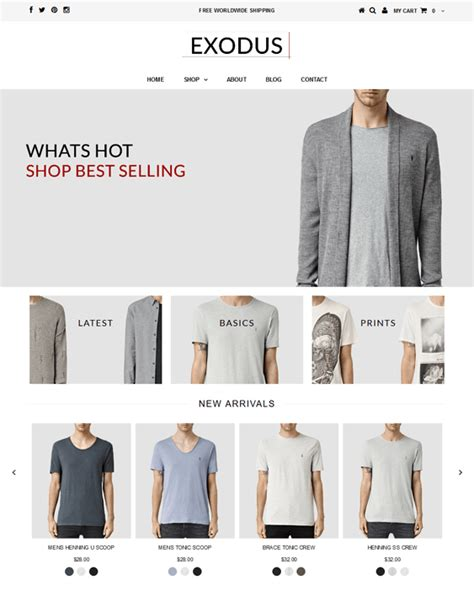 shopify themes testament 18 of the best shopify themes for men s clothing