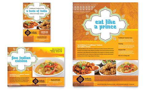 indian restaurant menu card templates free indian restaurant flyer ad template design