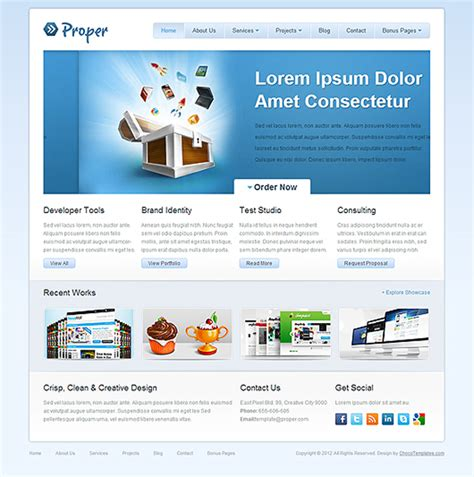 layout website html5 30 free responsive html5 css3 templates design geekz
