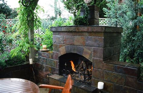 small backyard fireplace outdoor entertaining spaces landscaping network