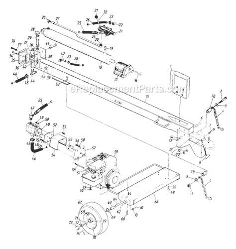 huskee log splitter parts diagram mtd 242 610 000 parts list and diagram 1992
