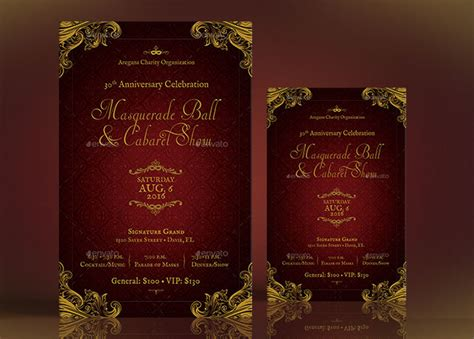 masquerade ball flyer poster template by godserv on deviantart