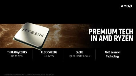 Amd Ryzen 7 1800x 3 6ghz Up To 4 0ghz Cache 16mb 95w Am4 8 entire amd ryzen am4 processor lineup leaked r7 1800x flagship detailed