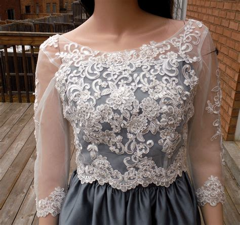 Bolero Wedding Pengantin Dress Pesta Import lace wedding bolero ivory white wedding bolero lace wedding