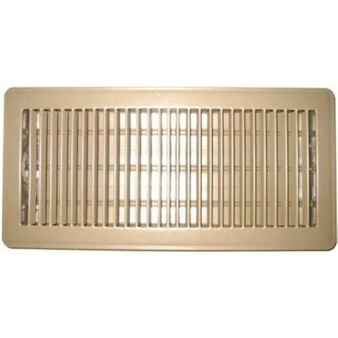 10 In X 30 In Floor Register by Accord 10 X 30cm Beige Metal Louvered Floor Register