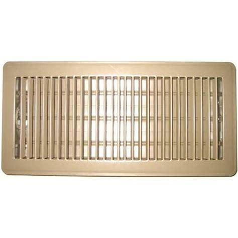 10 In X 30 In Floor Register - accord 10 x 30cm beige metal louvered floor register