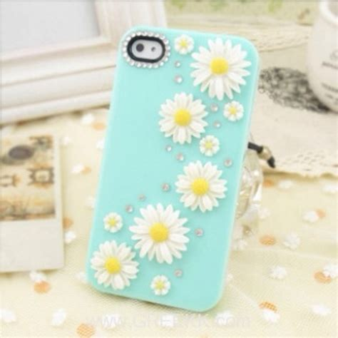 Burton Flower Blue Cover White apple iphone 4 4s green white yellow