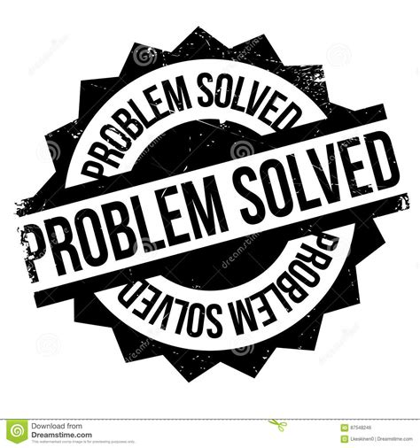8 problems that can be easily solved by machine learning problem solved rubber st stock vector image 87548246