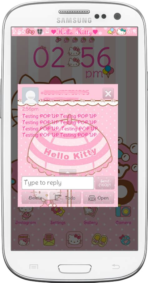 hello kitty car ride go launcher theme android themes pretty droid themes hello kitty car ride go sms theme