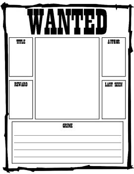 Reading Wanted Poster By Polka Dots And Pencils Tpt Wanted Poster Template Powerpoint