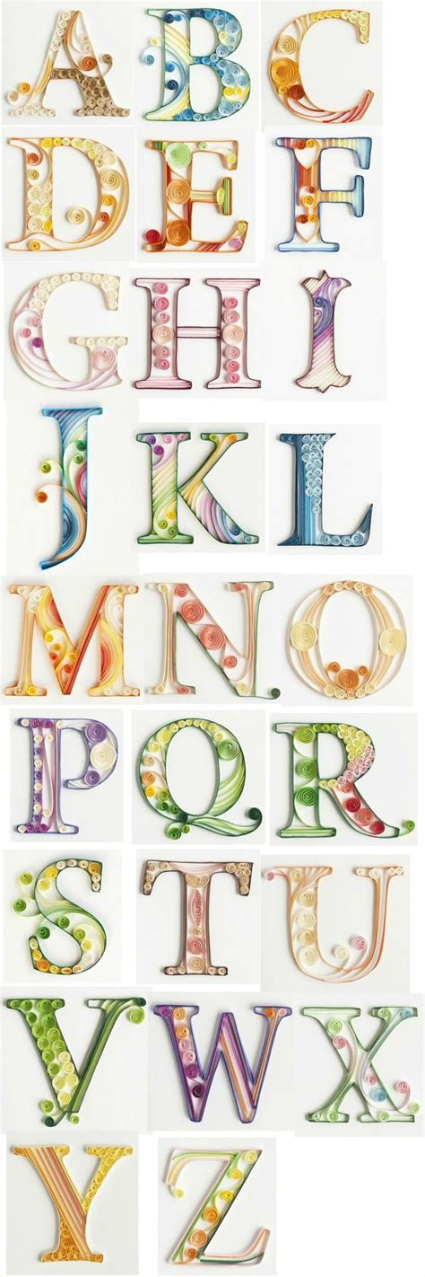 typography quilling tutorial 25 best ideas about alphabet letters on pinterest s
