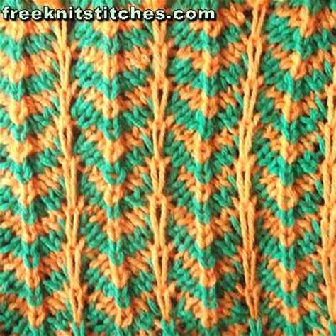 how to knit with two colors of yarn 2 color knitting patterns ripple
