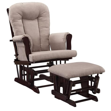 Glider Ottoman Set Glider Rocking Chair And Ottoman Set In Espresso And Gray Da4041r Dc
