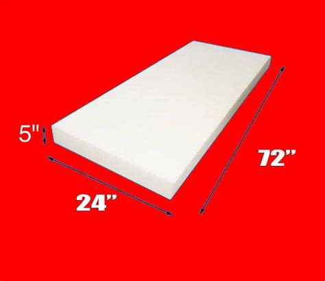 thick upholstery foam upholstery foam 5 thick 24 wide x 72 long