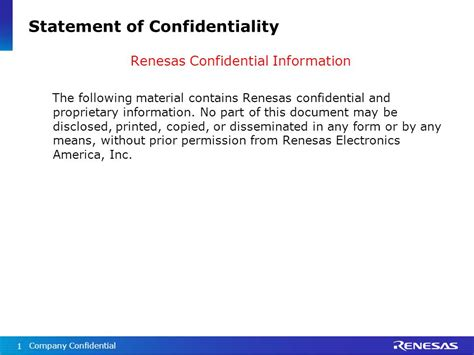 statement of confidentiality of report sle statement of confidentiality ppt