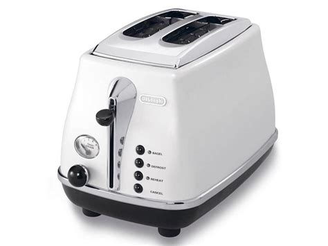 Delonghi Icona Toaster White icona white 2 slice toaster kitchen delonghi new zealand