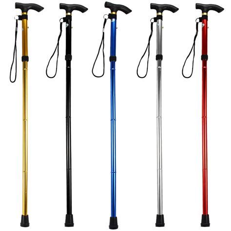 stick design ultra light 4 section aluminum alloy adjustable canes