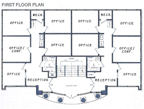 Small Office Building Floor Plans | small commercial office building plans commercial building