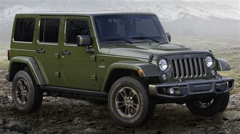 jeep models jeep 75th anniversary special edition models unveiled