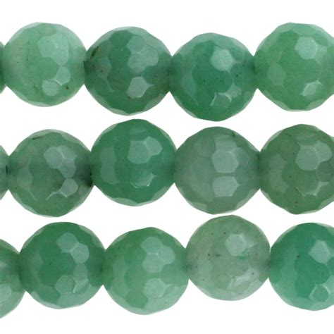 Green Aventurine green aventurine 10mm faceted large 2 5mm bead 8 quot