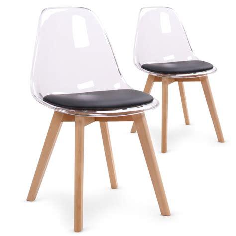 chaise en plexiglas chaises scandinaves plexi noir lot de 2 pas cher