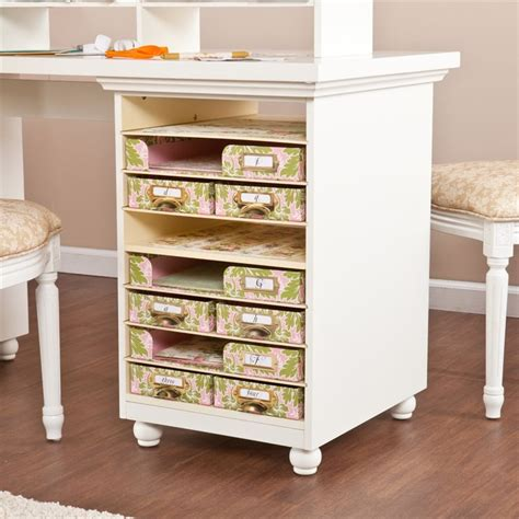 Griffin Craft Room Furniture by Southern Enterprises Griffin Craft Room Desk White